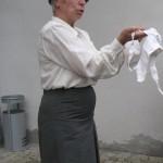 Foto von Heidi Braimaier als Lehrerin Fräulein Gaiser.