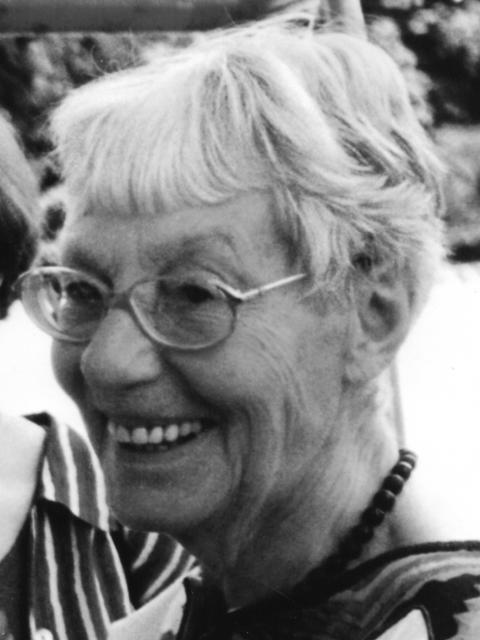 Foto von Felicitas Pflug aus dem Jahr 1984